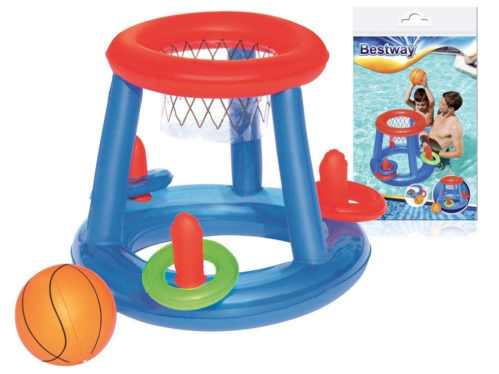 15a83025a Bestway 52109 Nafukovací, plávajúci basketbalový kôš na vodu, + lopta